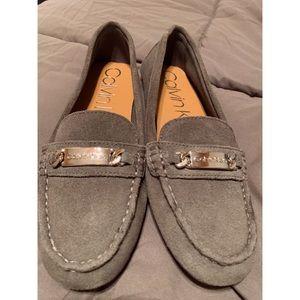 Calvin Klein Women's Lunasi Suede Loafer
